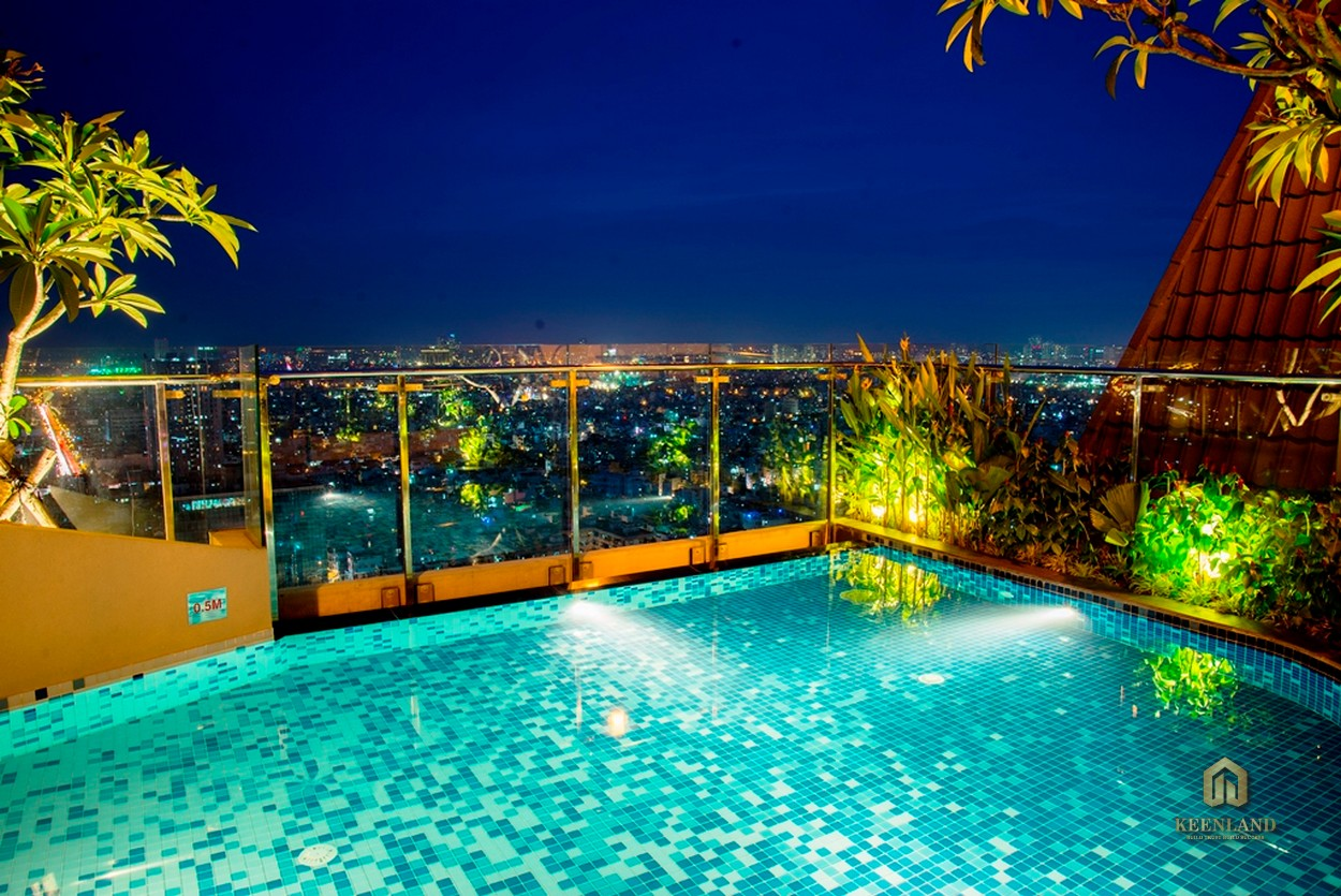 Bể bơi nội khu dự án chung cư Icon 56
