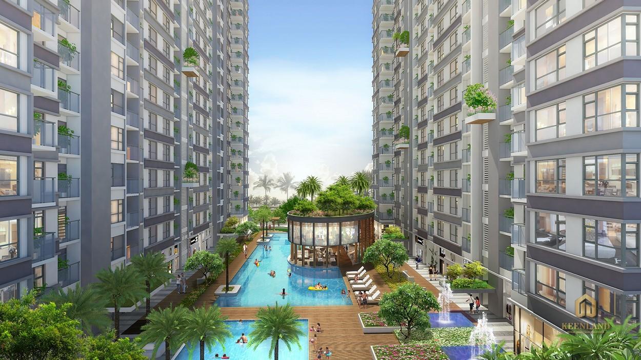 Hồ bơi tràn bờ - Tiện ích nội khu dự án The Western Capital