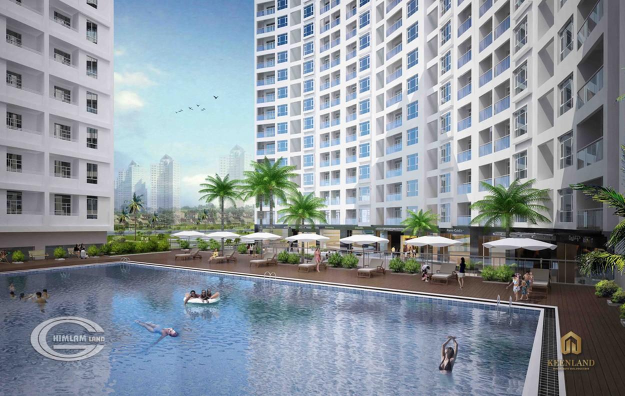Hồ bơi tại dự án Him Lam Riverside Quận 7