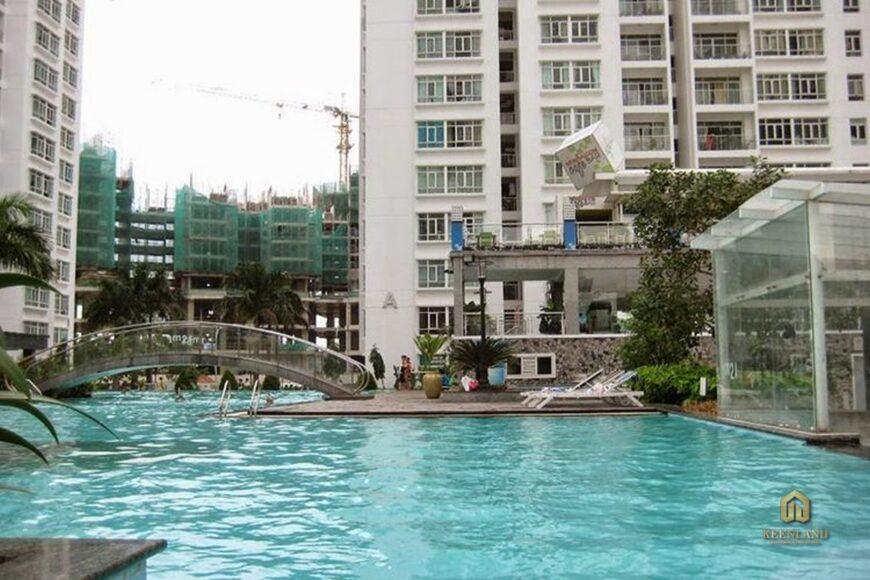 Hồ bơi tại dự án chung cư 155 Nguyễn Chí Thanh