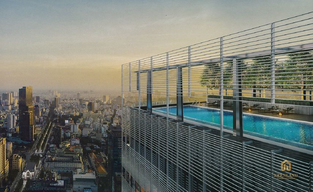 Hồ bơi tầng thượng - Tiện ích nội khu dự án The Vertex Private Residence