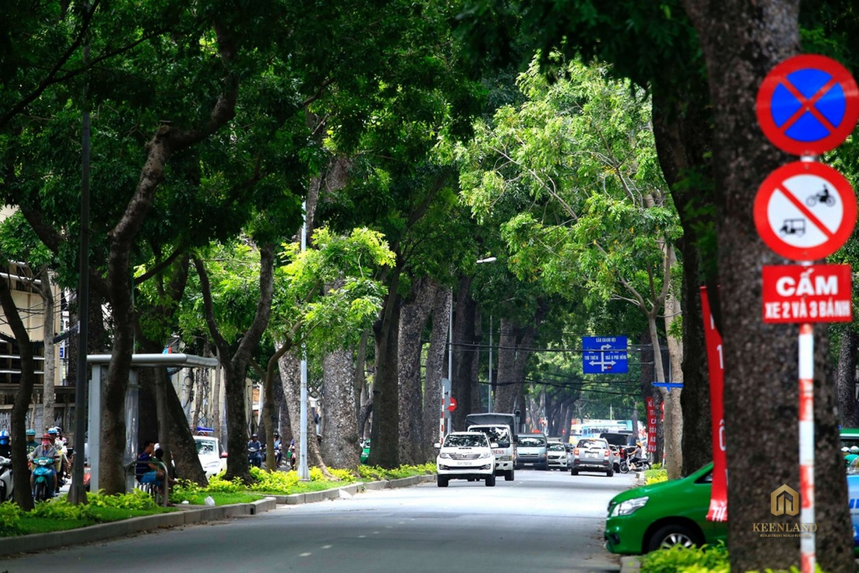 Không gian sống ngập tràn cây xanh khu vực xung quanh dự án Kỳ Đồng Tower Quận 3