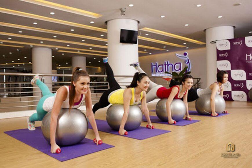 Phòng tập Yoga tại khu chăm sóc sức khỏe Hatha Fitness - Tiện ích nội khu dự án chung cư Khánh Hội 1