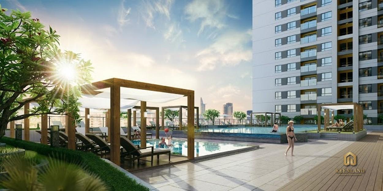 Hồ bơi tầng 5 - Tiện ích nội khu dự án The Gold View Quận 4