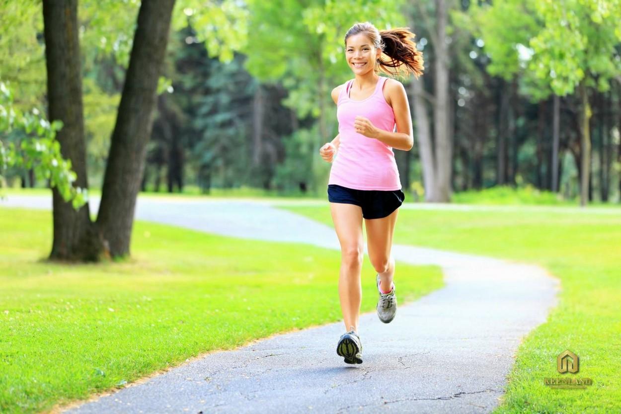 Lối chạy bộ đầy bóng mát - Tiện ích nội khu Kỳ Đồng Tower