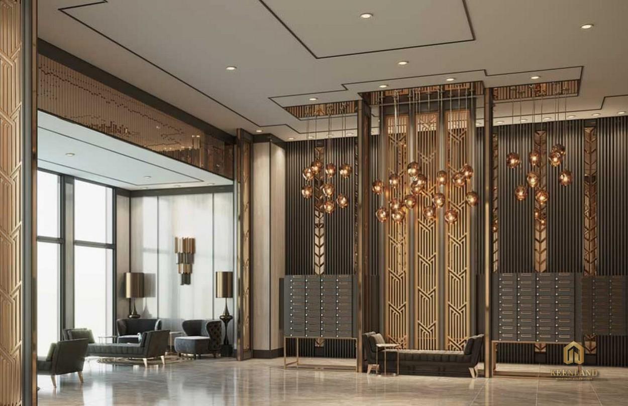 Lounge đón khách lịch sự - Tiện ích nội khu dự án The Grand Manhattan