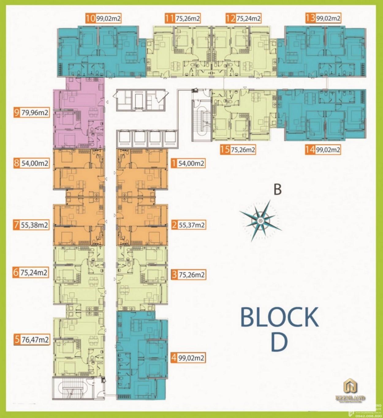 Mặt bằng Block D dự án Palacio Garden