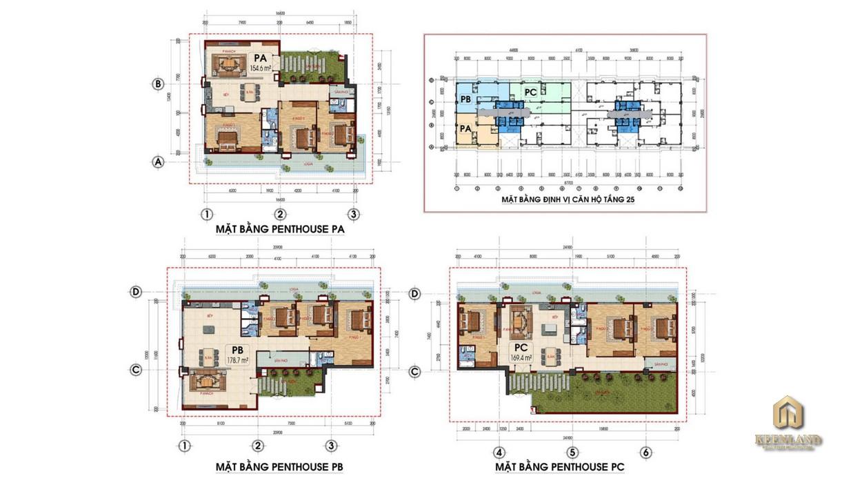 Mặt bằng căn hộ điển hình dự án Tam Đức PlazaMặt bằng căn hộ điển hình dự án Tam Đức Plaza