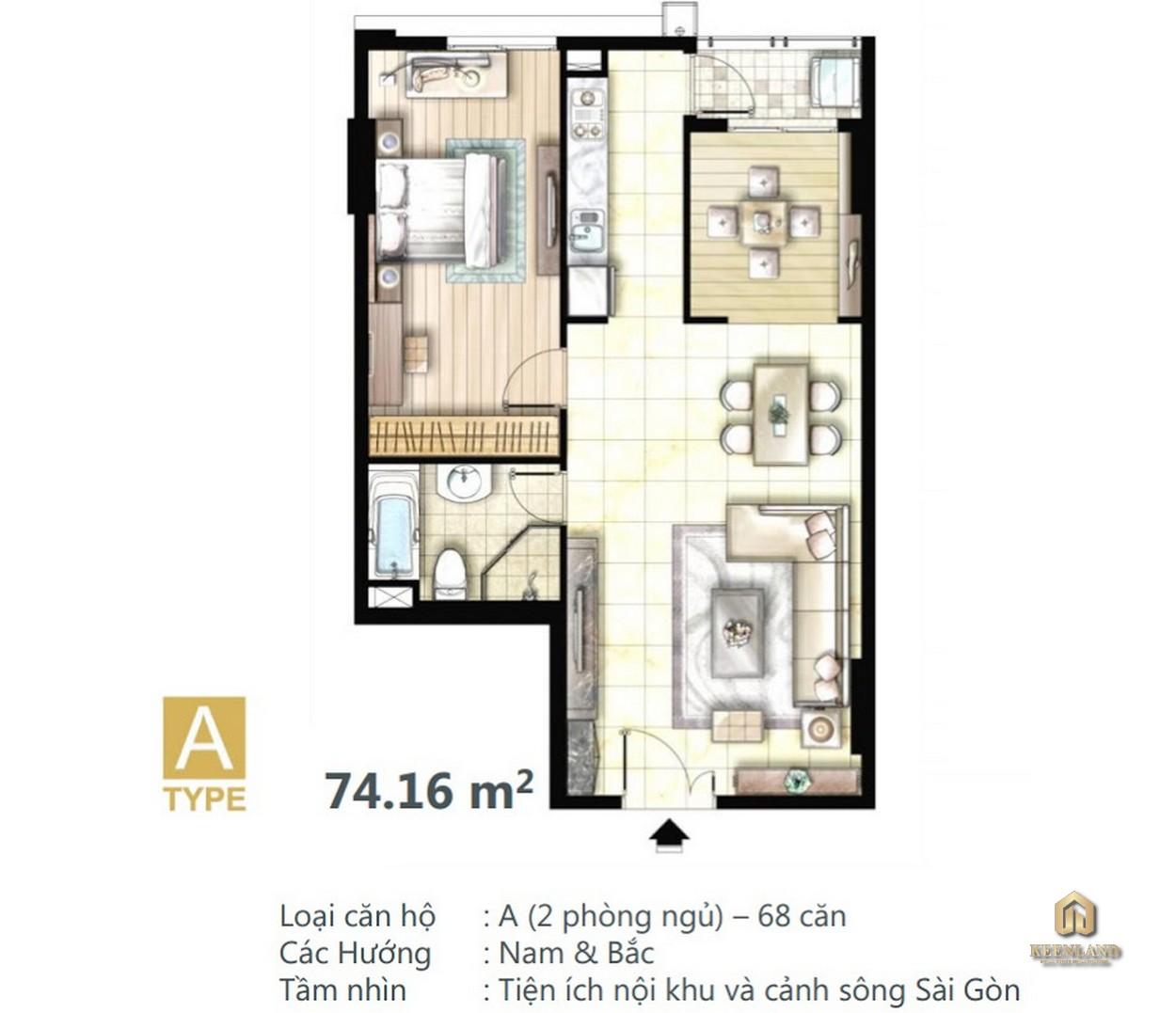 Mặt bằng căn hộ điển hình Docklands Saigon Quận 7
