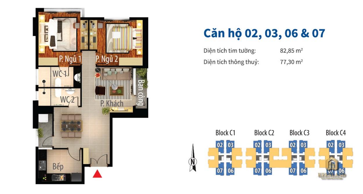 Thiết kế chi tiết căn hộ Him Lam Chợ Lớn