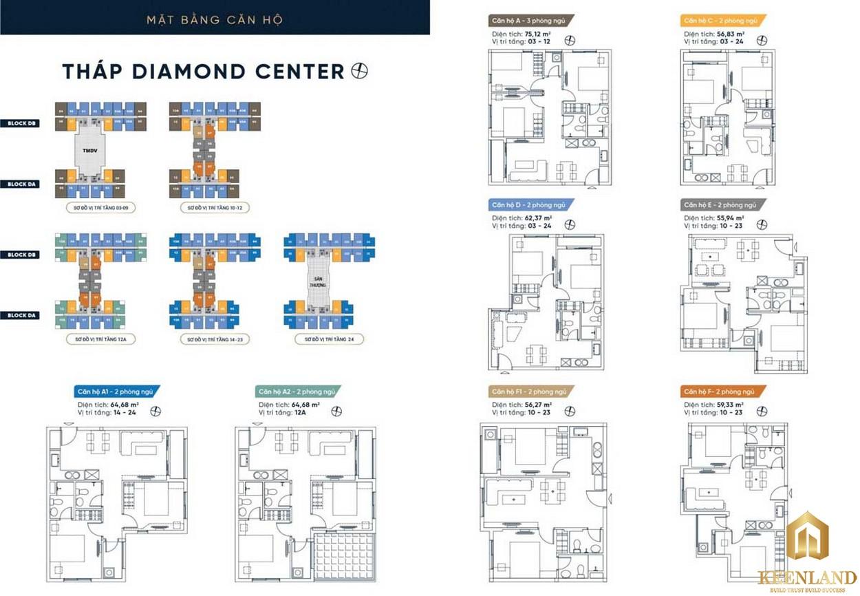 Mặt bằng tháp Diamond Center