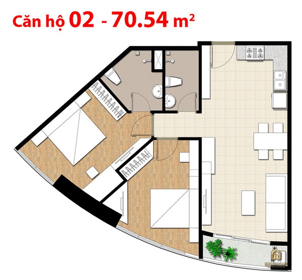 Mặt bằng căn hộ điển hình dự án Tulip Tower Quận 7
