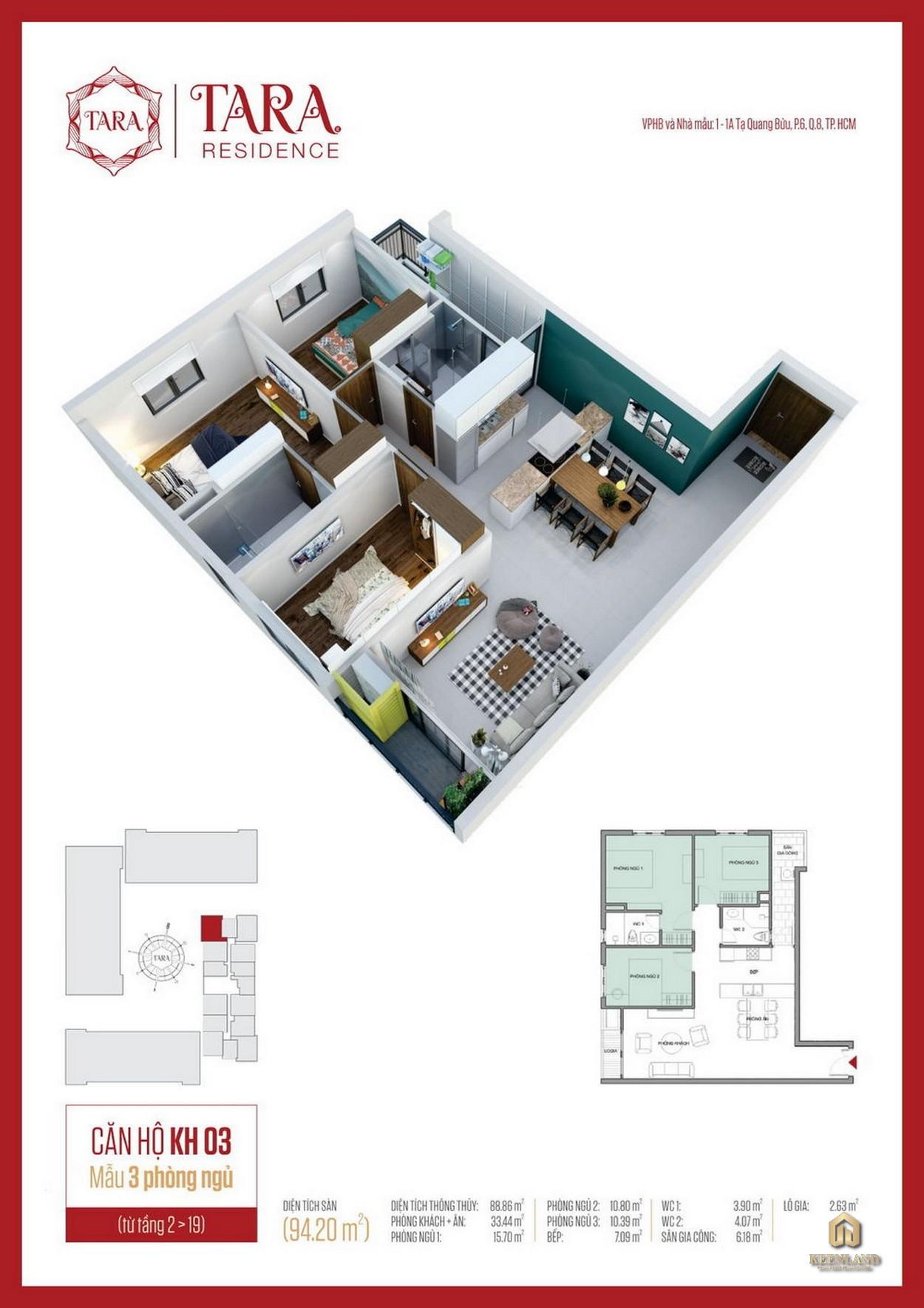 Thiết kế chi tiết căn hộ Tara Residence