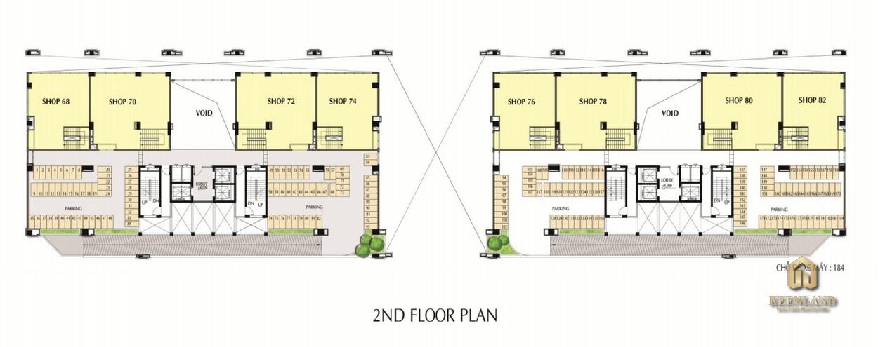 Mặt bằng tầng 2 dự án Nam Phúc Le Jardin Quận 7
