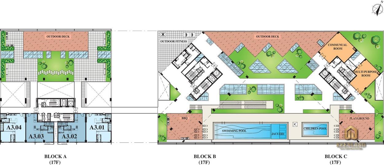 Mặt bằng tầng 4 dự án Scenic Valley 2 Quận 7