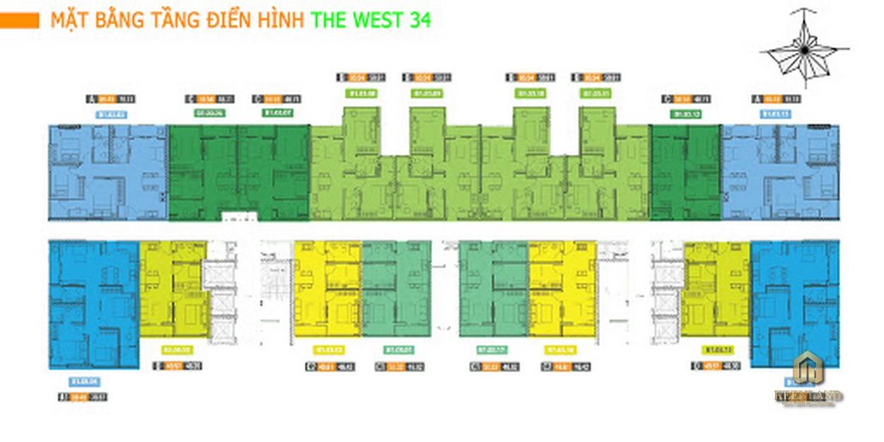 Mặt bằng tầng điển hình dự án The Western Capital
