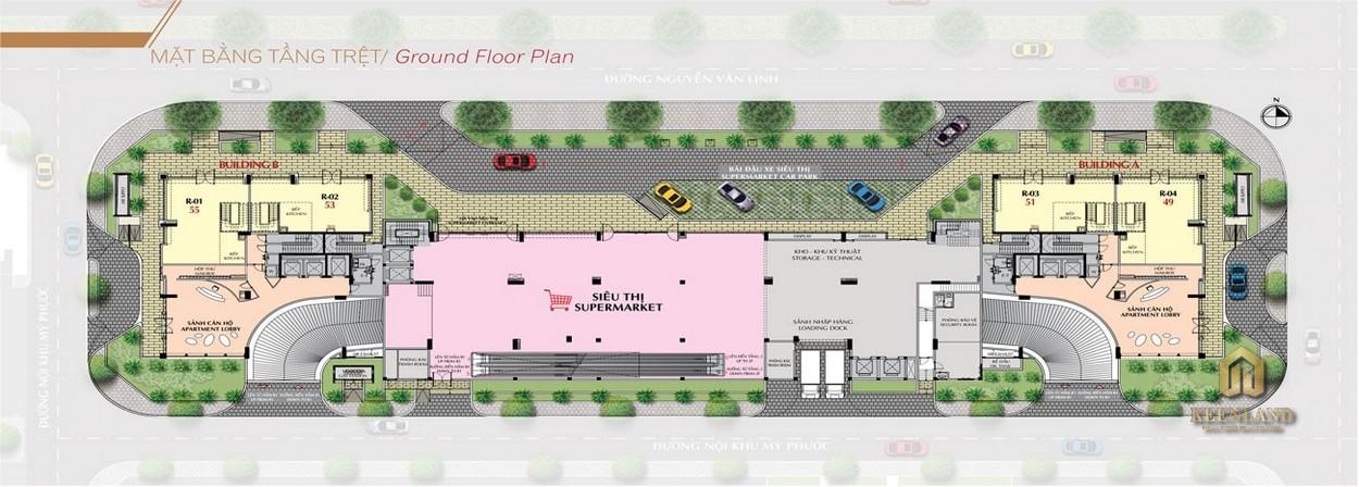 Mặt bằng tầng trệt dự án Urban Hill Phú Mỹ Hưng Quận 7