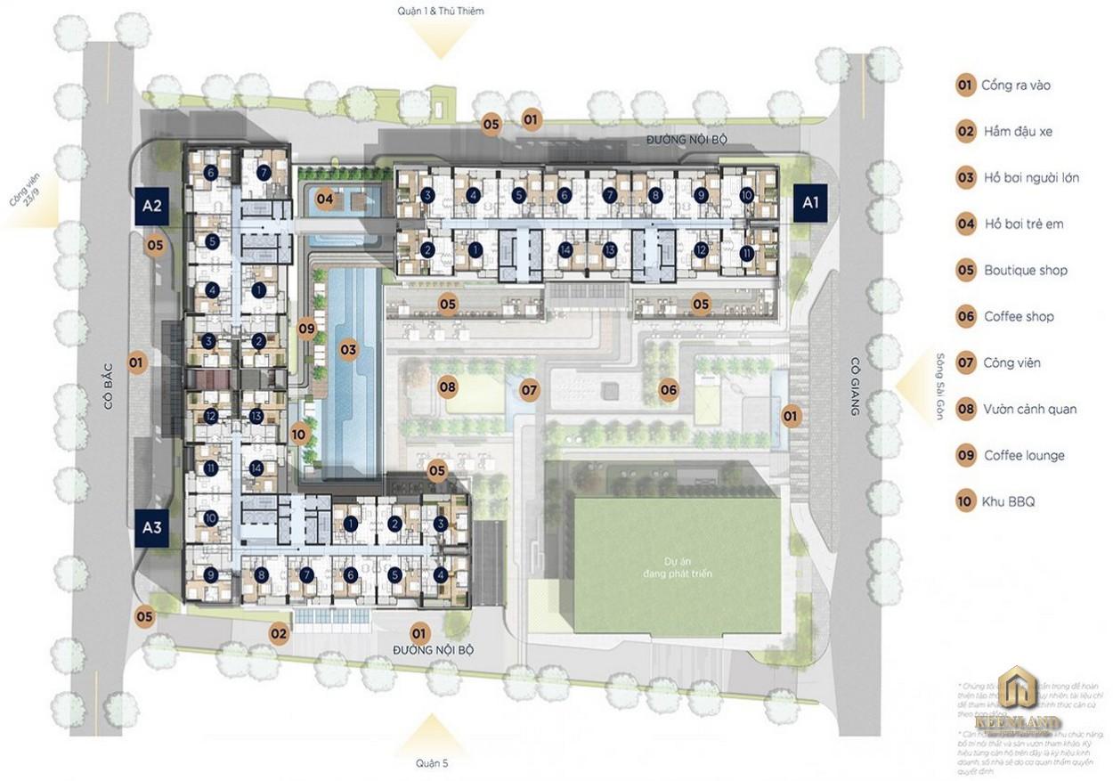 Mặt bằng tiện ích dự án The Grand Manhattan