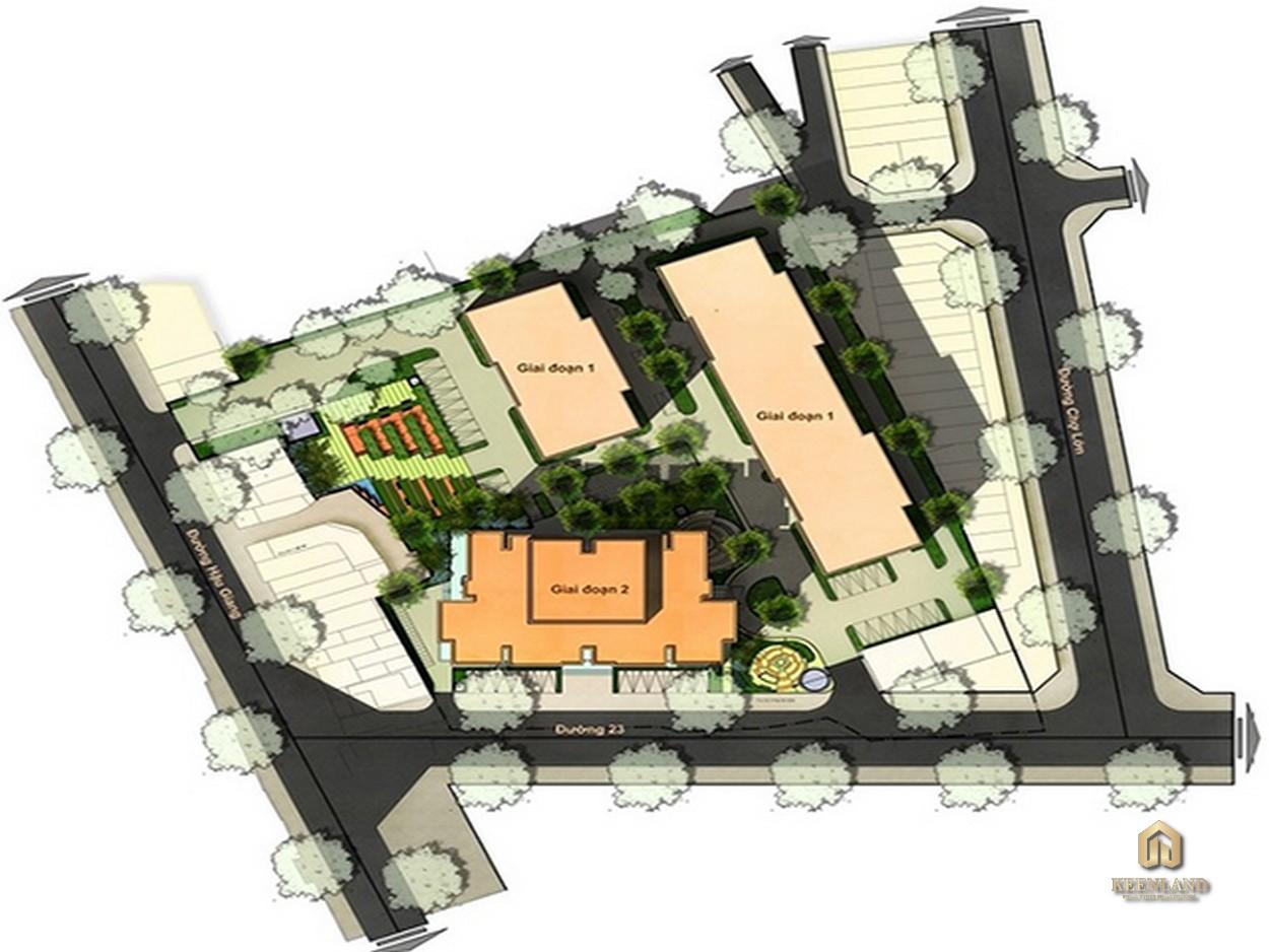 Mặt bằng tổng thể dự án An Phú Apartment