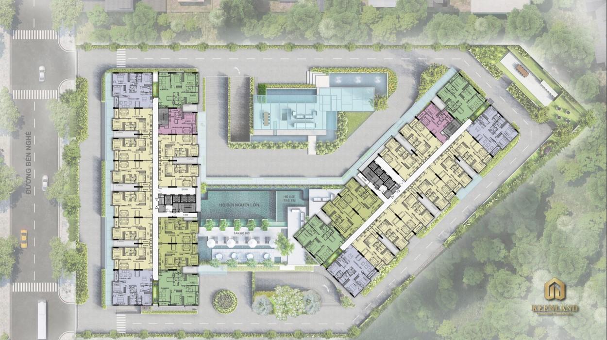 Mặt bằng tổng thể dự án Ascent Garden Homes Quận 7