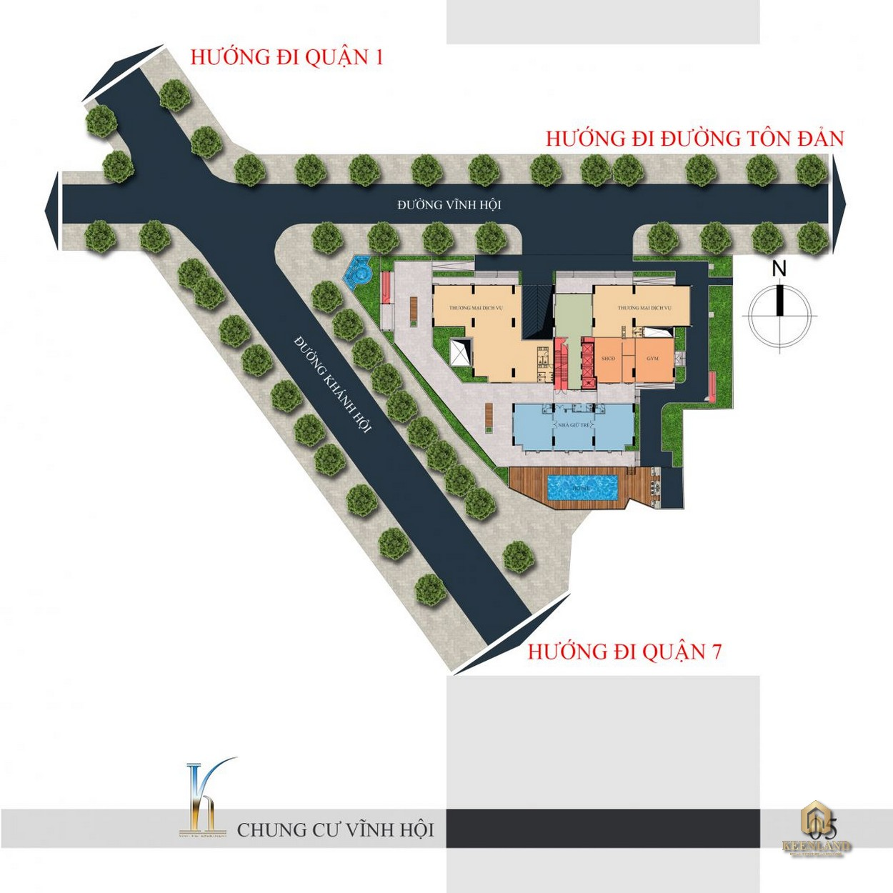 Mặt bằng tổng thể dự án chung cư Vĩnh Hội