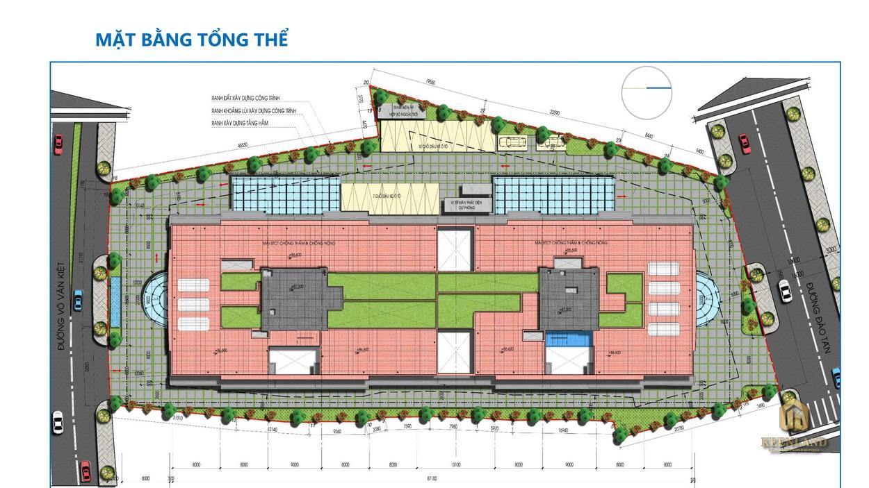 Mặt bằng tổng thể dự án  Tam Đức Plaza