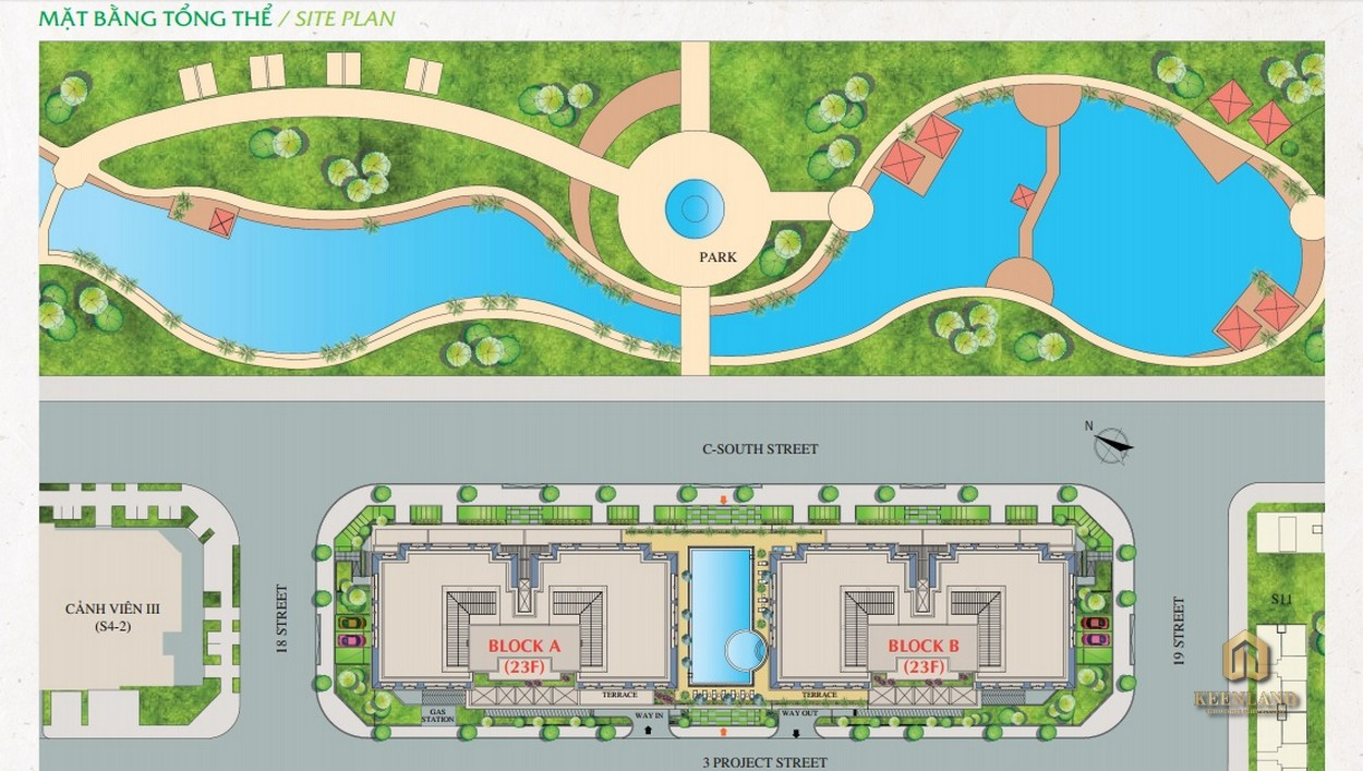 Mặt bằng tổng thể dự án  Nam Phúc Le Jardin Quận 7