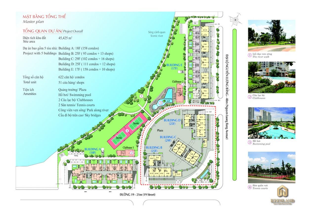 Mặt bằng tổng thể dự án Riverside Residence Quận 7