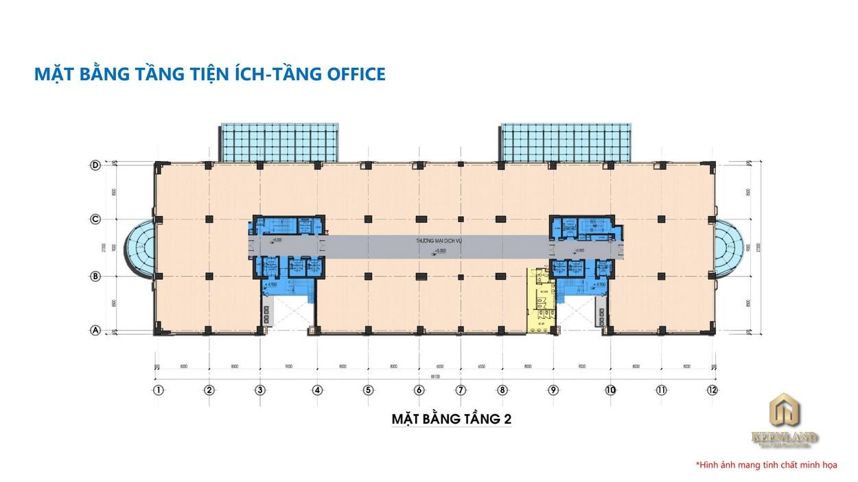 Mặt bằng tổng thể tầng 2 dự án Tam Đức Plaza