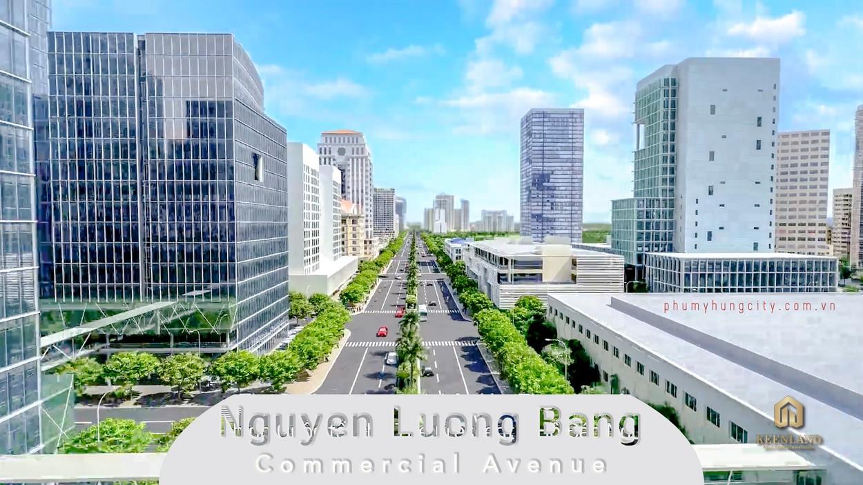 Con đường Nguyễn Lương Bằng khang trang, sầm uất