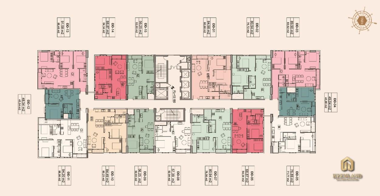 Mặt bằng Block Đại Đồng (B3) dự án Tara Residence