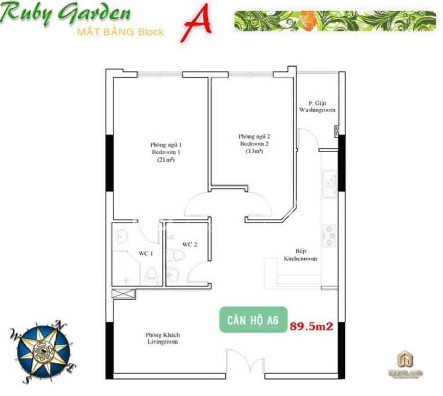 Thiết kế chi tiết căn hộ A Ruby Garden