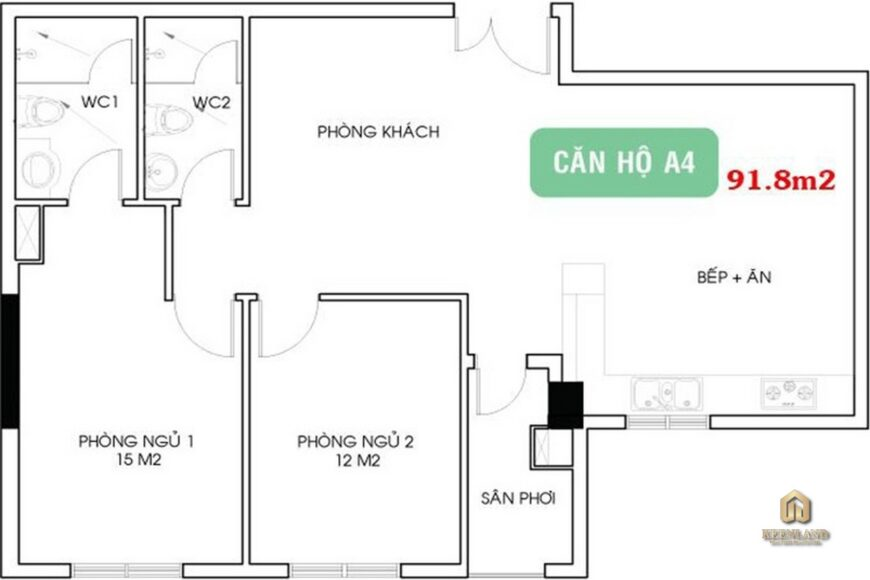 Thiết kế chi tiết căn hộ 4A Ruby Garden
