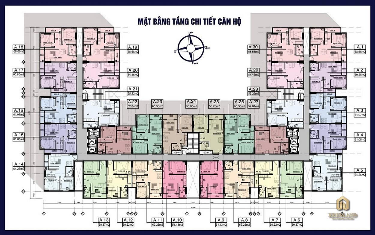 Mặt bằng tầng chi tiết căn hộ Heaven Riverview Quận 8