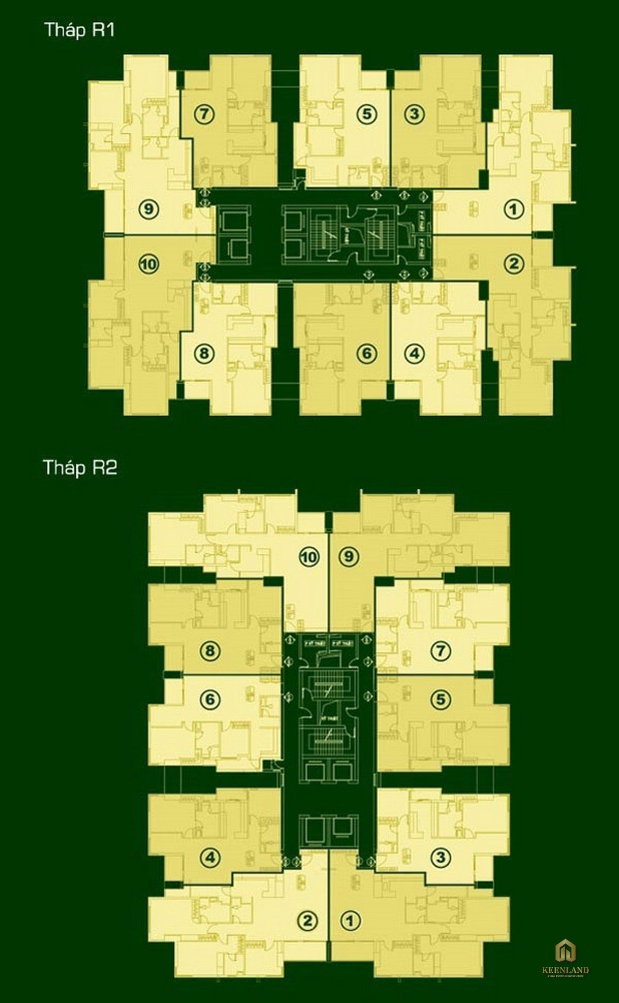 Mặt bằng tầng điển hình The EverRich 1