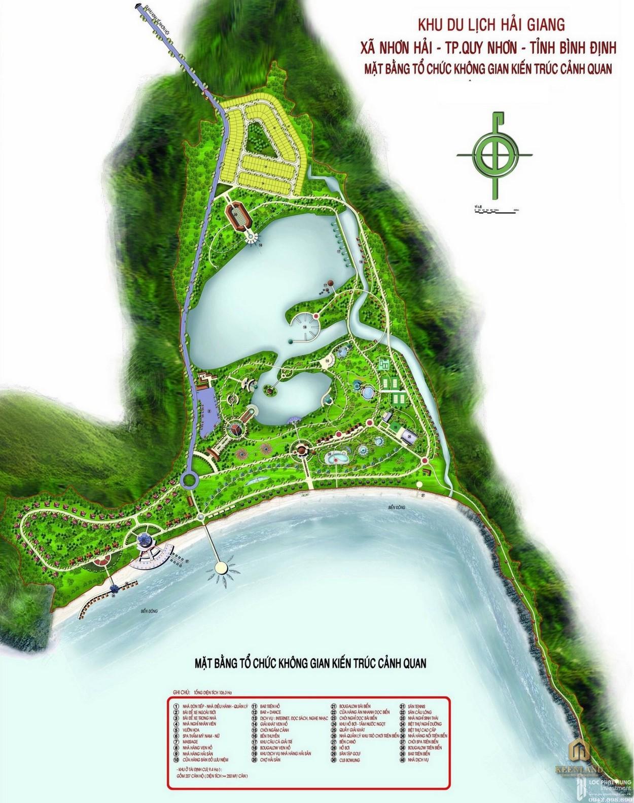 Mặt bằng dự án căn hộ biệt thự Hải Giang Merry Land Quy Nhơn chủ đầu tư Hưng Thịnh