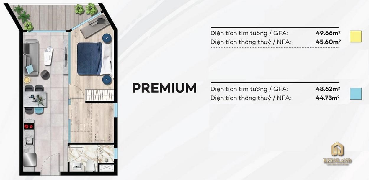 Thiết kế condotel PREMIUM Merry Land Hưng Thịnh
