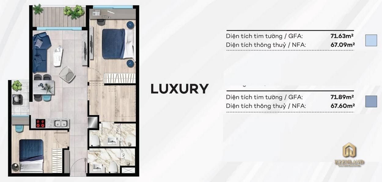 Thiết kế condotel LUXURY Merry Land Hưng Thịnh