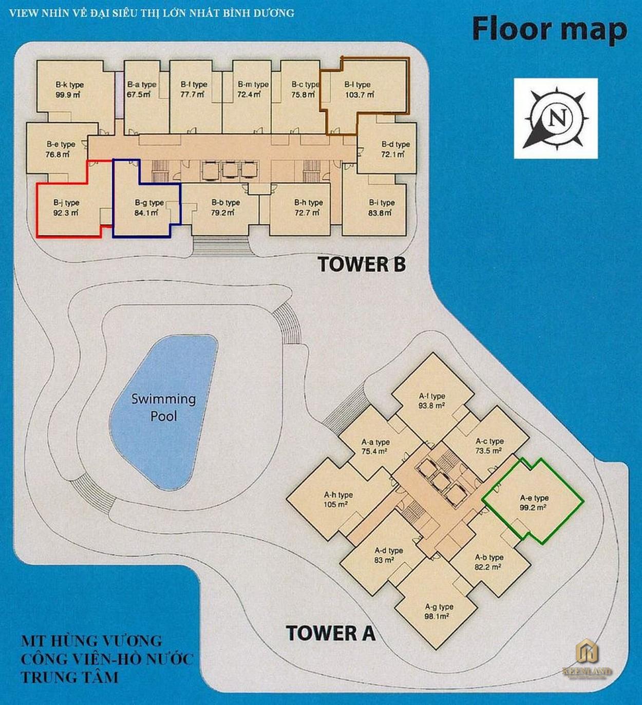 Mặt bằng tầng điển hình dự án Sora Gardens 1