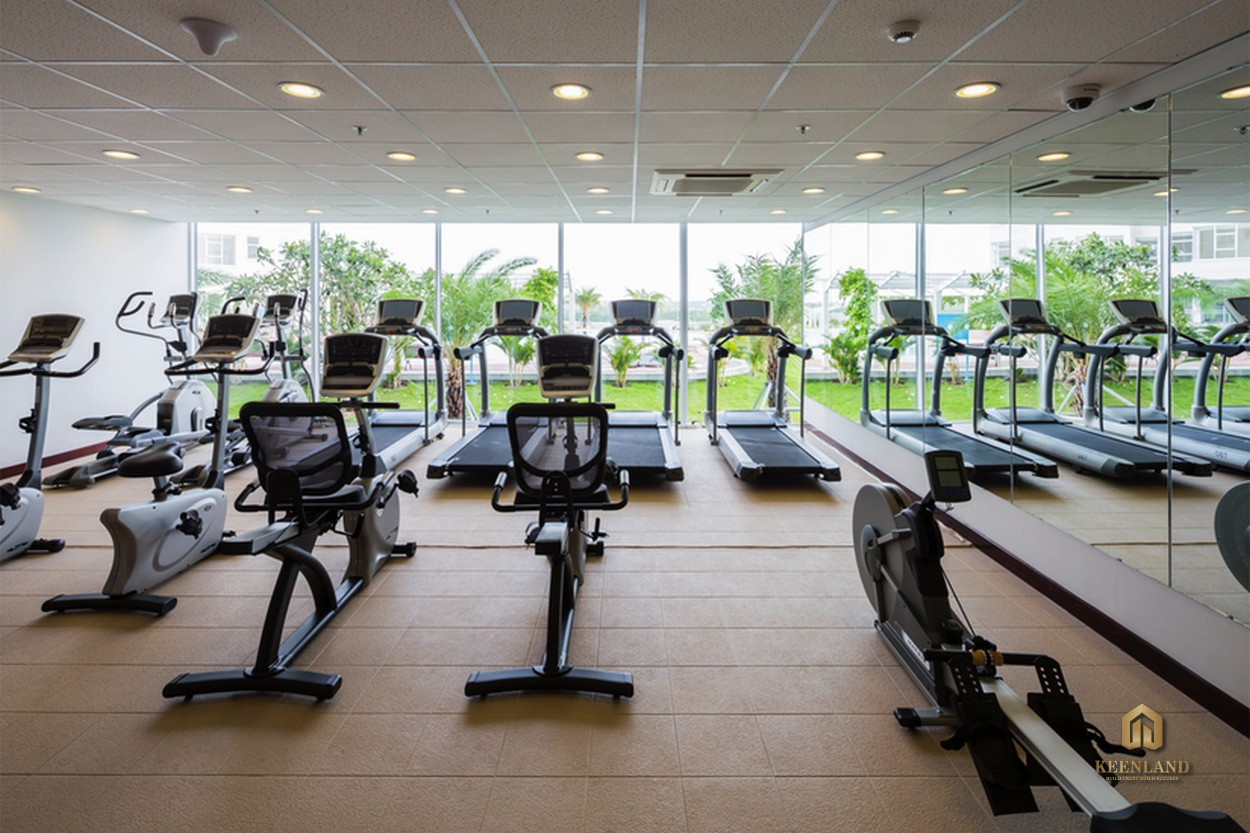 Hệ thống phòng gym tại dự án