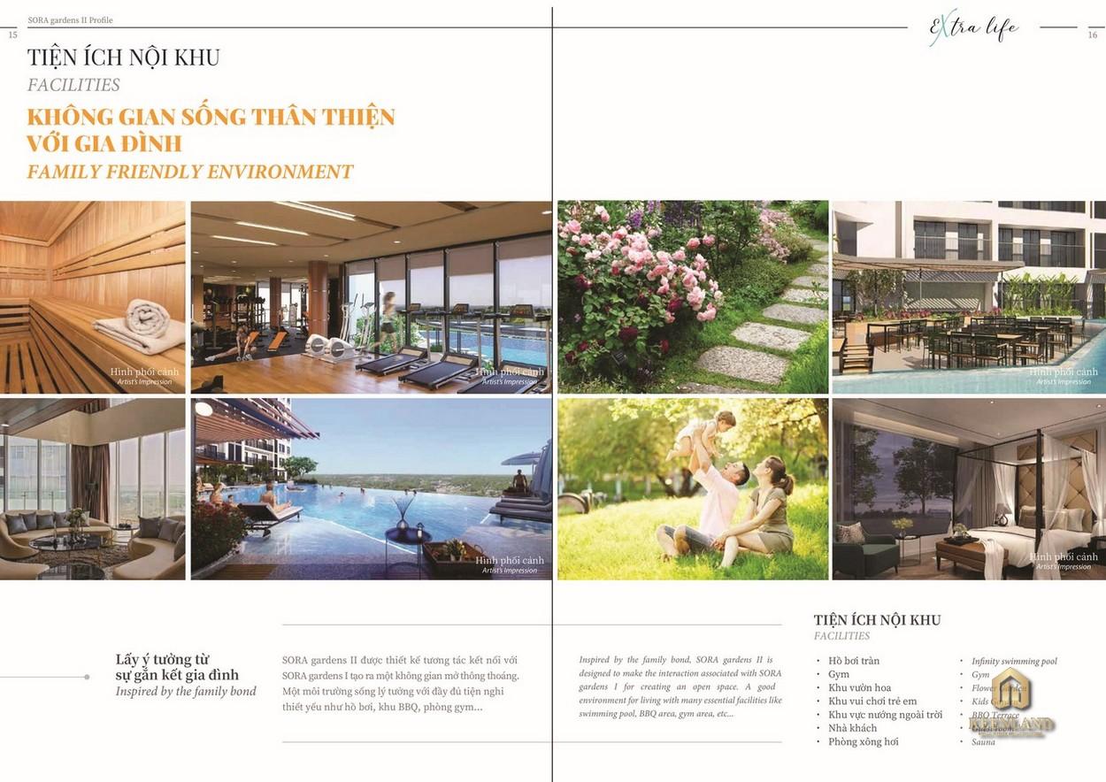 Tiện ích nội khu dự án căn hộ Sora Gardens II Bình Dương