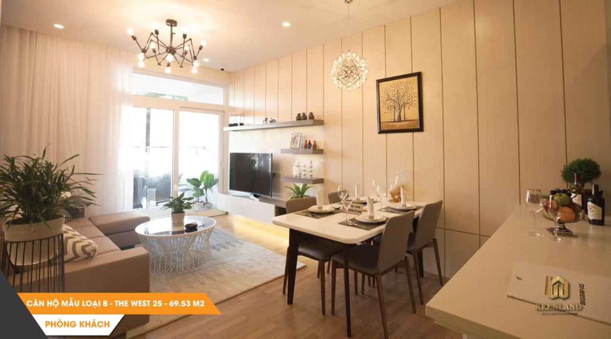 Nội thất nhà bếp căn hộ mẫu The Western Capital