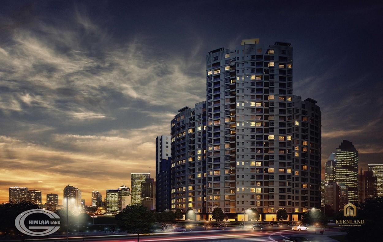Phối cảnh ban đêm dự án Him Lam Riverside của chủ đầu tư Him Lam