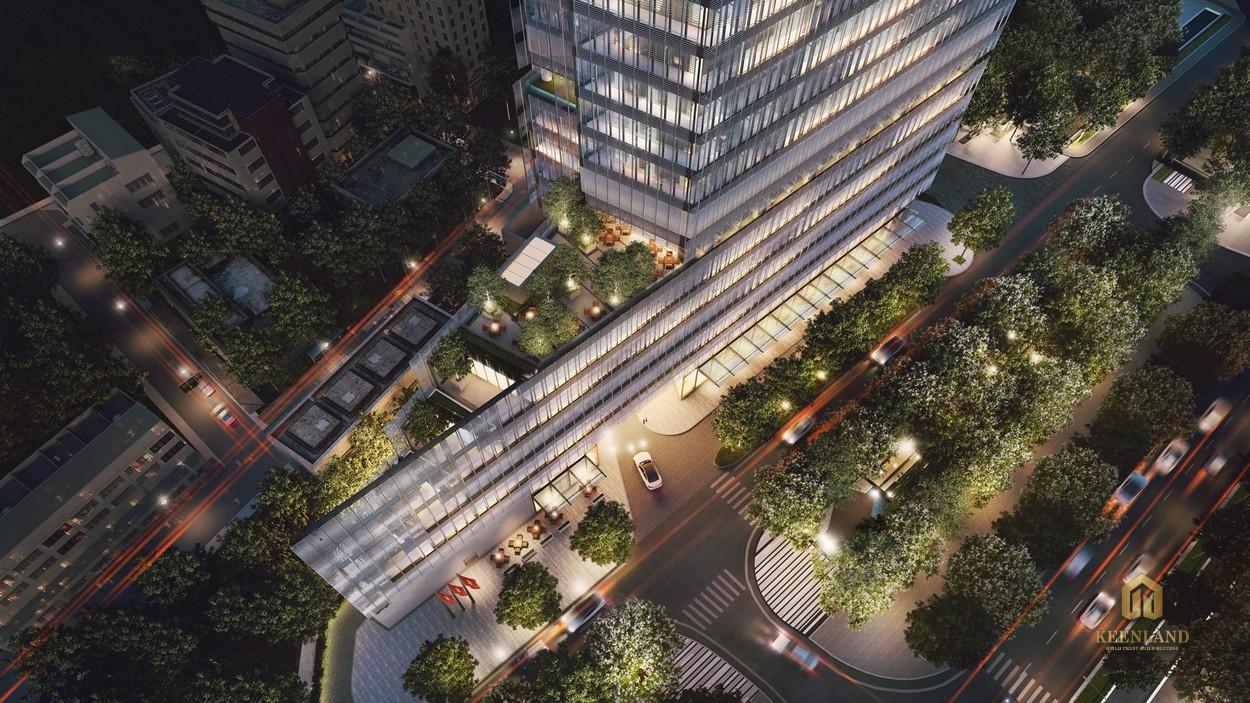 Không gian sống xanh bao quanh dự án The Vertex Private Residences