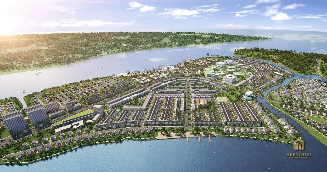 Phối cảnh khu đô thị Aqua City