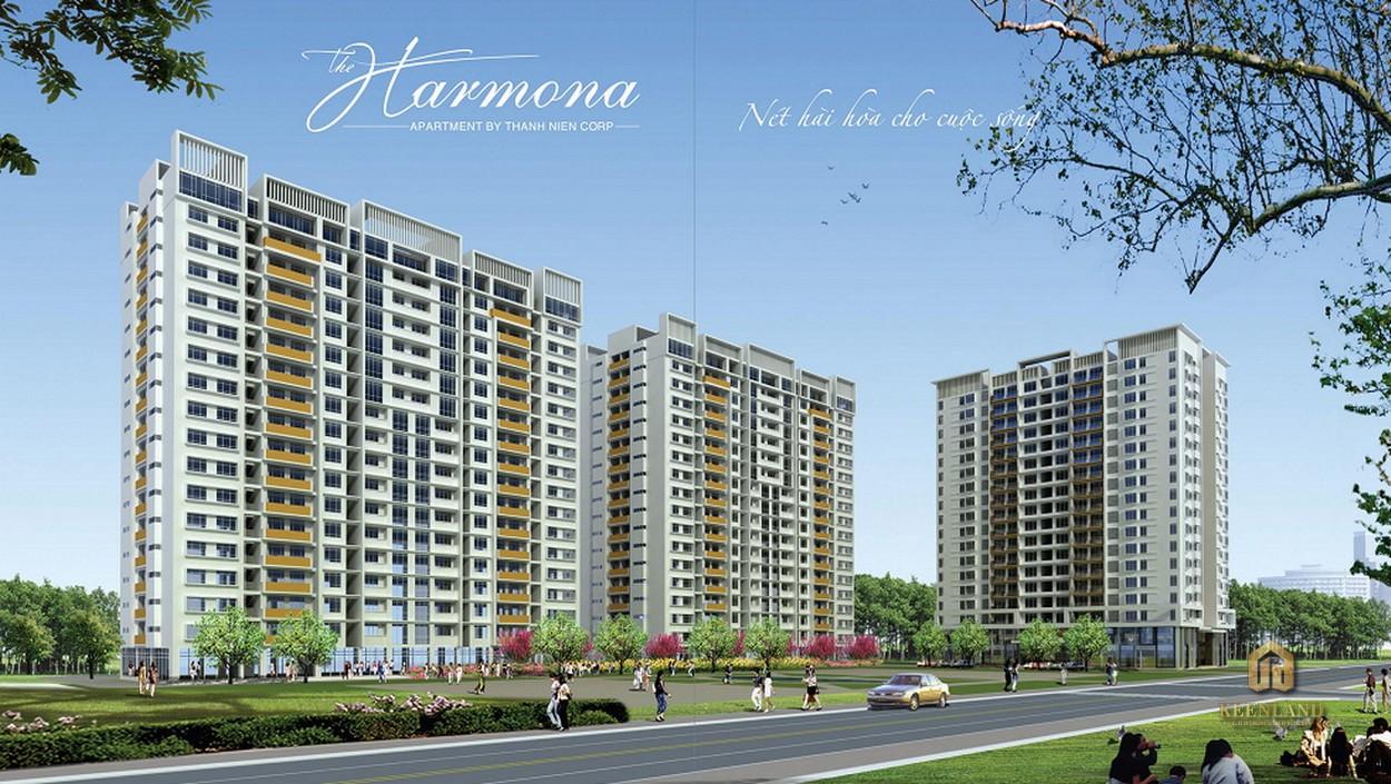 Phối cảnh dự án căn hộ The Harmona