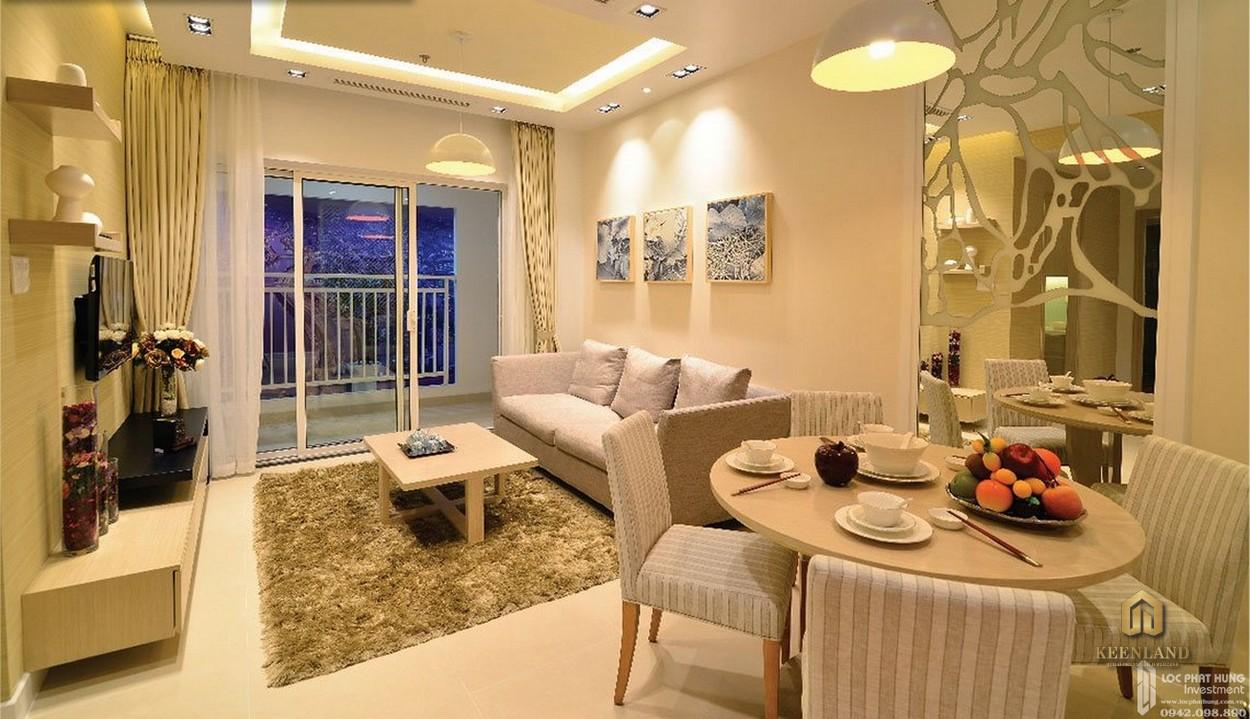 Nội thất phòng ăn căn hộ mẫu Lucky Palace