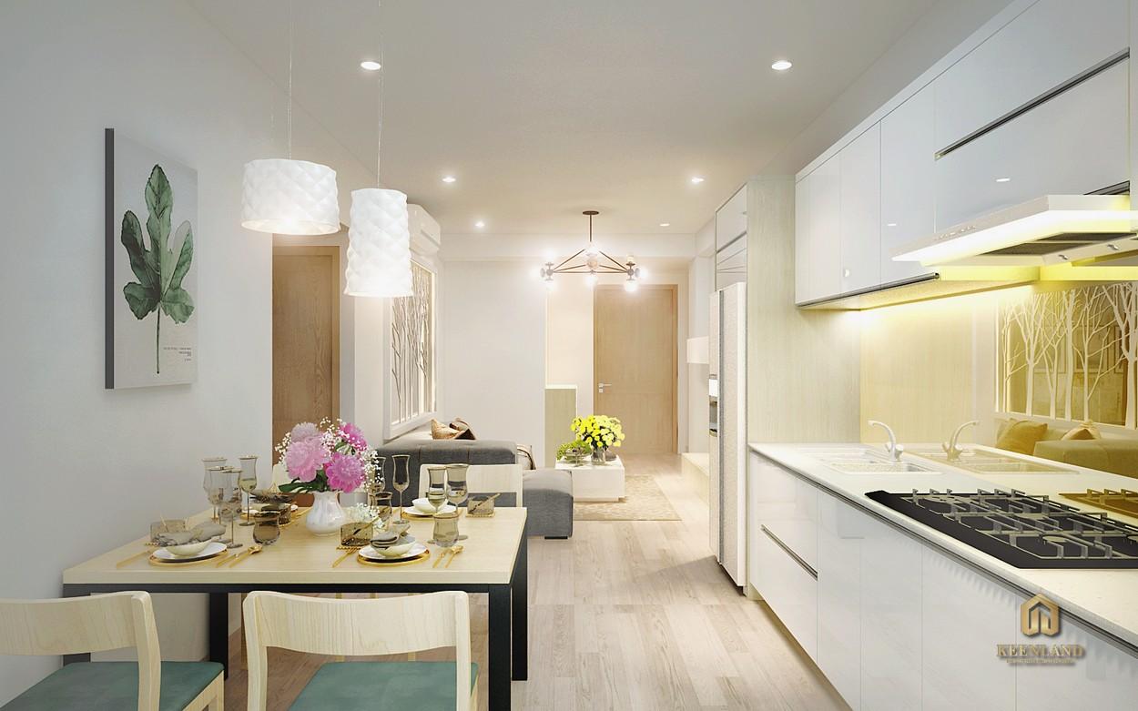 Nội thất nhà bếp căn hộ mẫu Starlight Riverside