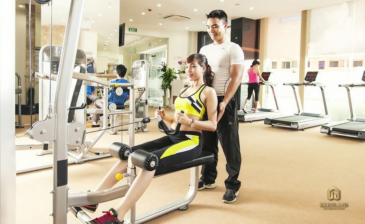 Phòng gym hiện đại - Tiện ích nội khu dự án C.T Plaza Minh Châu Quận 3