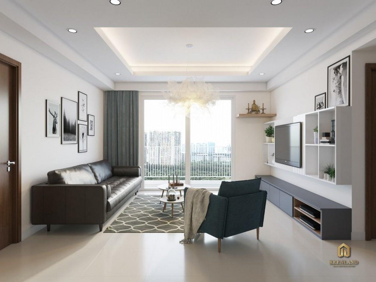 Nội thất phòng khách căn hộ mẫu Lucky Palace